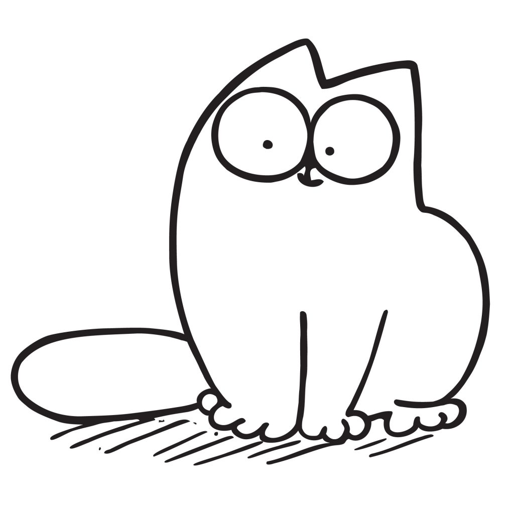 simon cat free coloring pages - photo#23