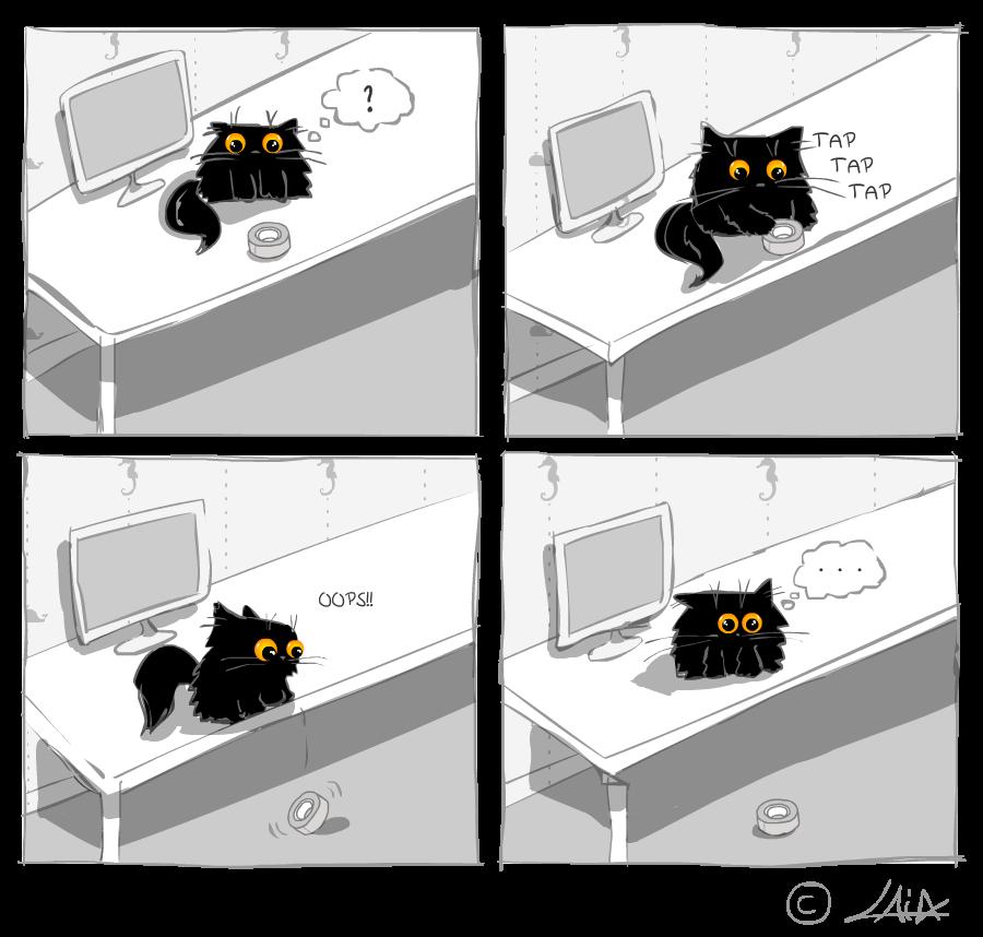 gatos tirando cosas