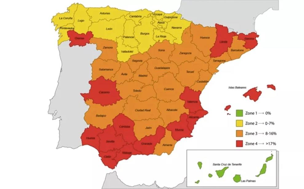 Mapa de seroprevalencia de infección por Leishmania infantum en perros en España 2020